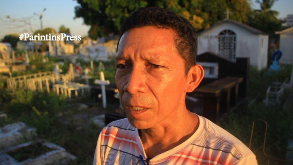 Domingos Miranda, sepultou o filho Erickson Tenório no dia dos pais. Foto: Parintins Press