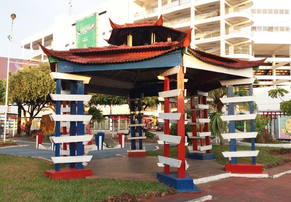 Praça em homenagem aos japoneses, em Parintins.