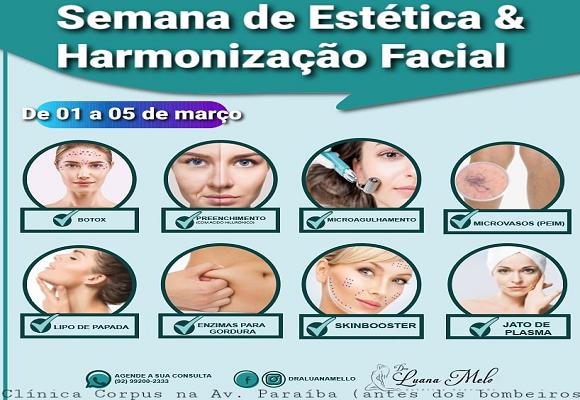 Semana de harmonização facial dra Luana Melo