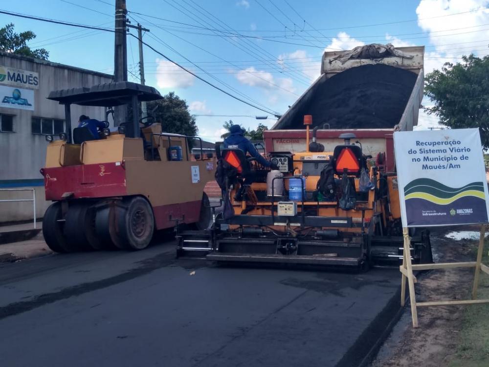 Maués ganha novo visual com revitalização do sistema viário urbano