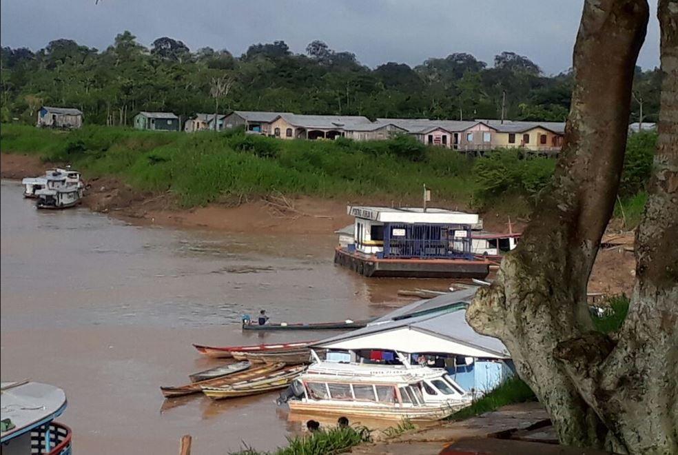 Município de Ipixuna, na calha do rio Juruá — Foto: Divulgação/Defesa Civil do AM