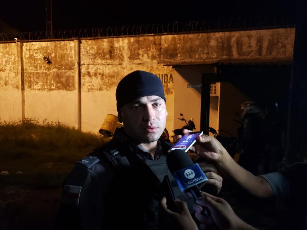 Capitão Ricardo Viana comandou operação no presídio com 30 militares.