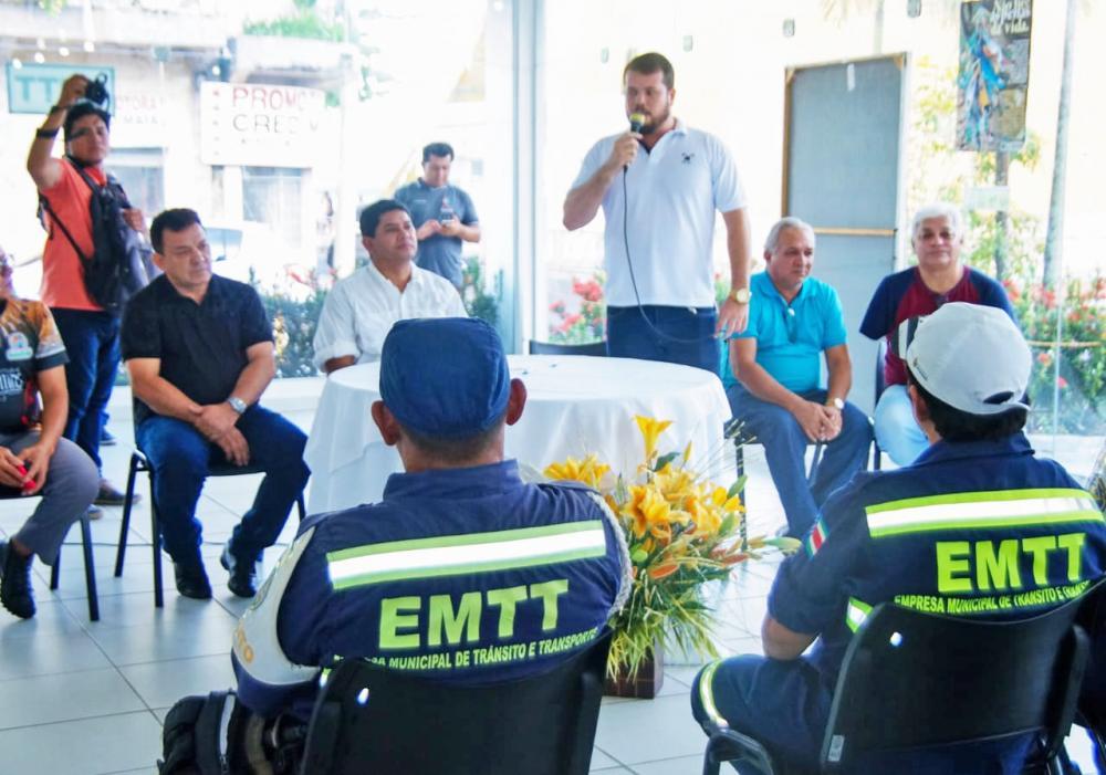Diego Mascarenhas afirma que EMTT deverá trabalhar com viaturas. Foto: Arleison Cruz