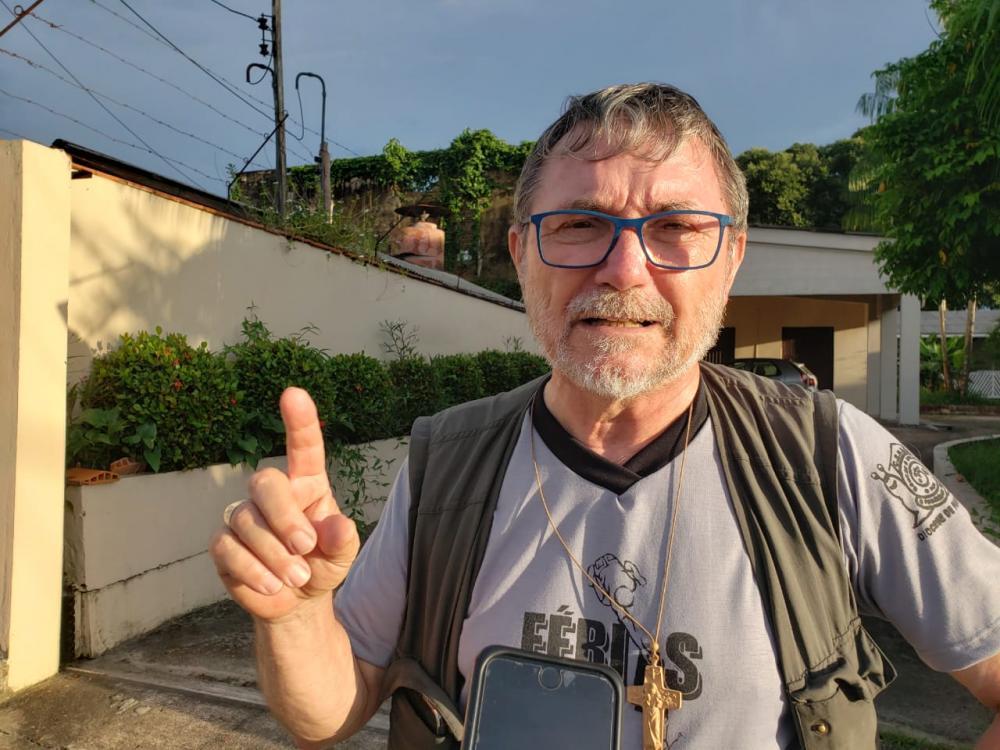 Dom Giuliano Frigenni, bispo de Parintins. Foto: Carlos Alexandre