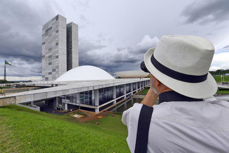 Visitação ao Congresso Nacional foi suspensa nesta segunda-feira (3), em virtude da sessão solene de inauguração dos trabalhos legislativos de 2020. Foto: Marcos Oliveira/Agência Senado
