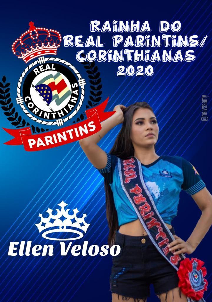 Ellen Veloso representa o Real Parintins no concurso Rainha da Copa Alvorada