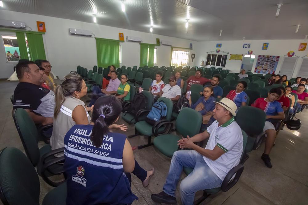 Reunião da Vigilância em Saúde para orientar procedimentos de prevenção contra o Covid-19. (Foto: Eduardo Gomes)