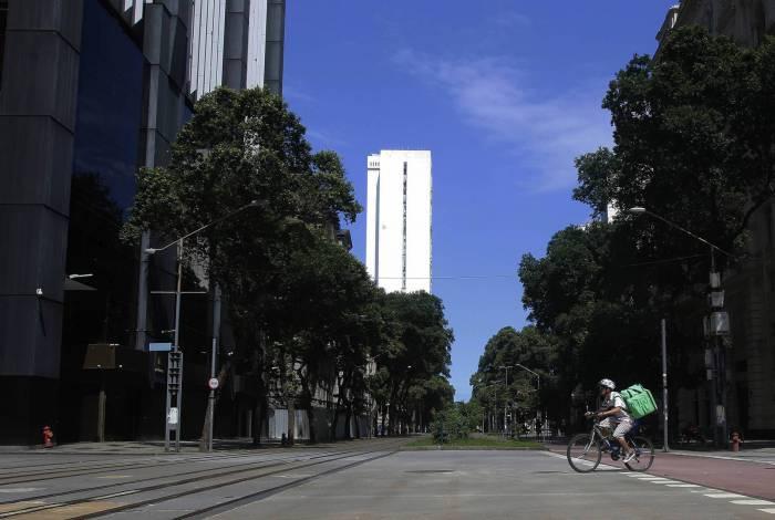 Ruas vazias no centro do Rio - Reginaldo Pimenta / Agencia O Dia