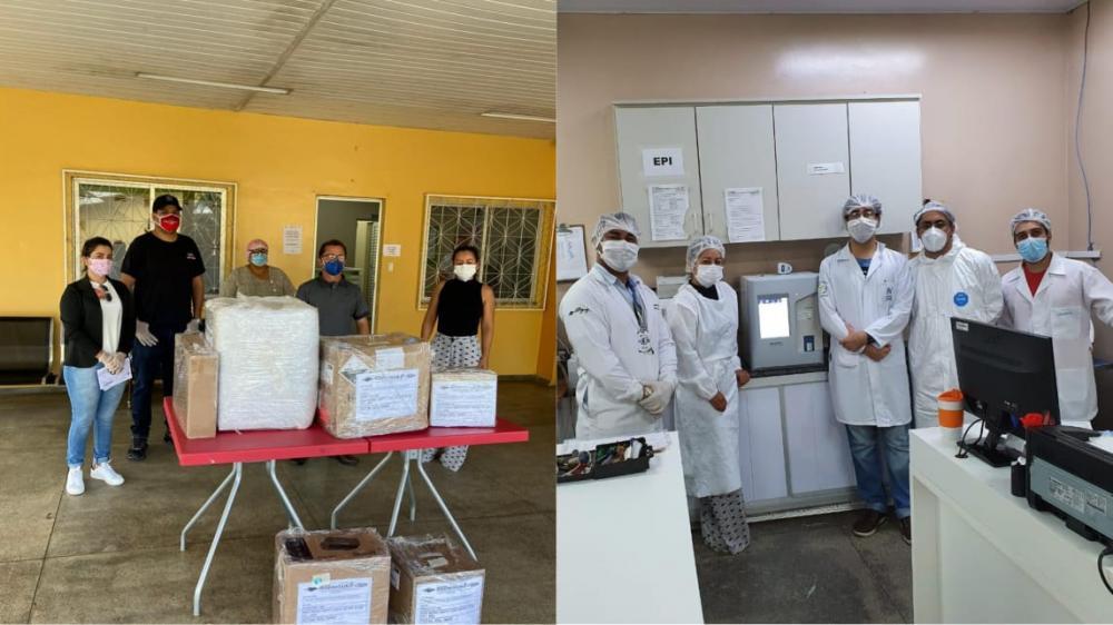 Baratão da Carne e Moto Peças João Alfredo doam aparelhos para o Hospital Jofre Cohen