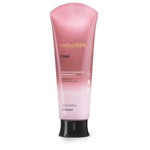 O Shampoo e o Condicionador Nativa SPA Rosé contêm proteína de quinoa, aliada a um exclusivo blend de rosas.
