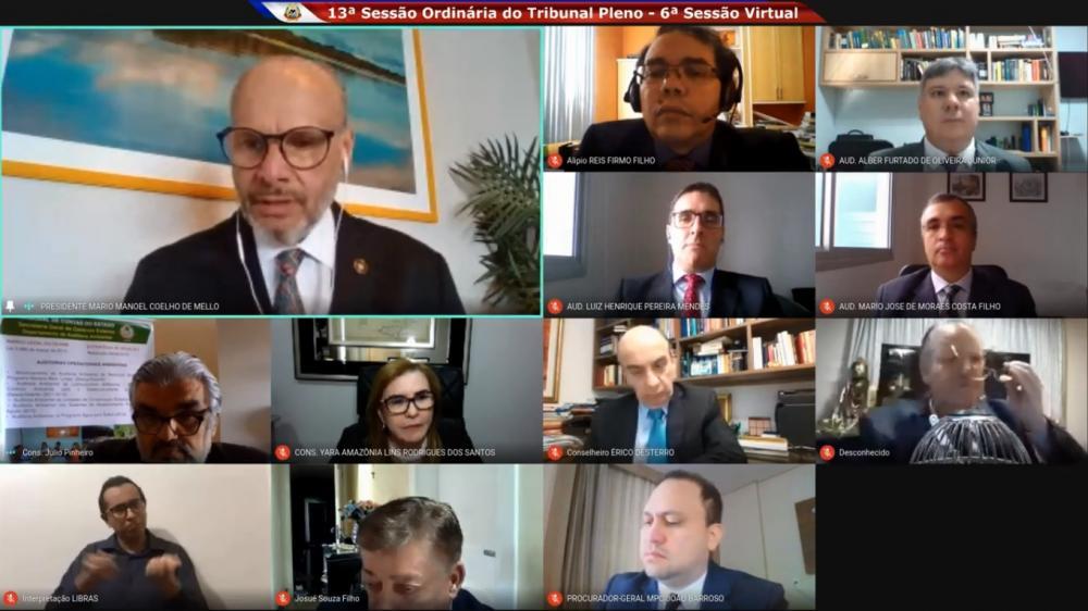 TCE decide em sessão virtual alertar Estado e Municípios sobre a Transparência.