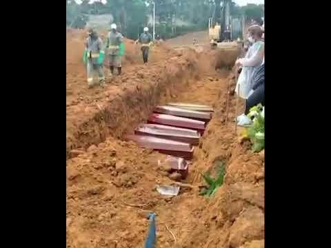 Manaus começa a enterrar vítimas de coronavírus em trincheiras. Veja vídeo: