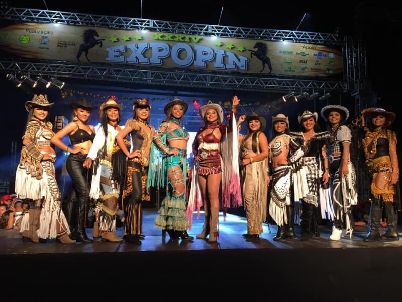 Desfile do Concurso Garota Expopin 2019