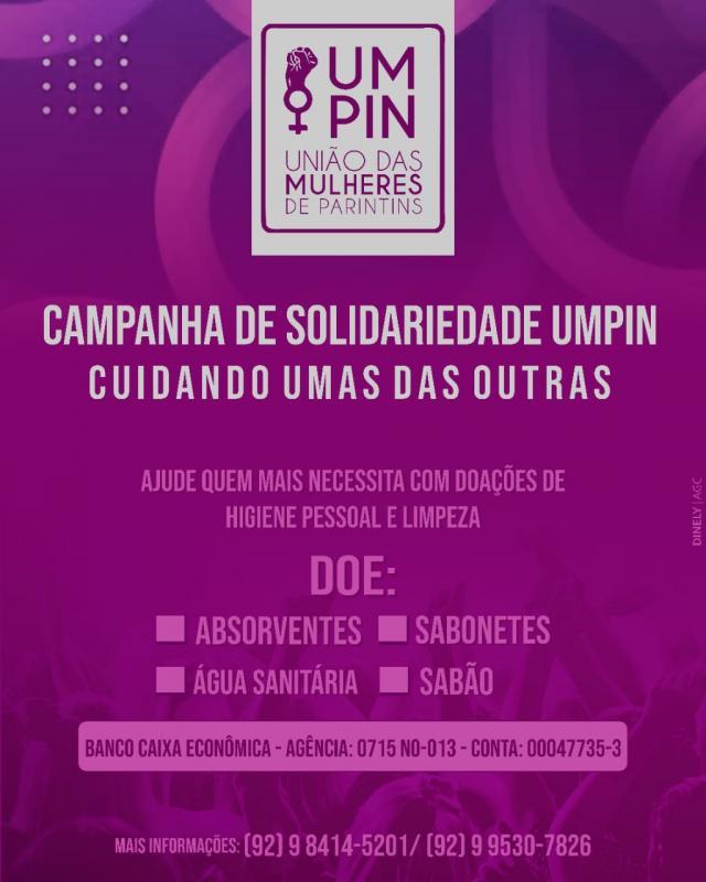 União das Mulheres Parintinenses realiza campanha para coletar materiais de limpeza